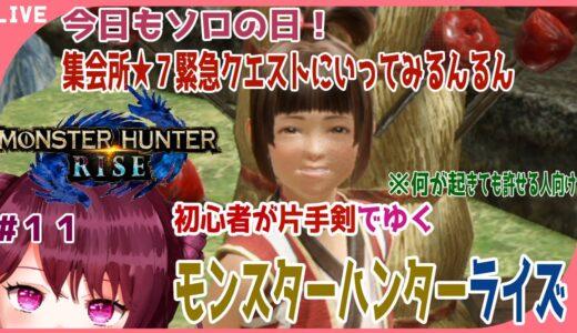 【モンスターハンターライズ】現在HR20‼ド初心者が今からはじめる片手剣ライフ#11【新人Vtuber】